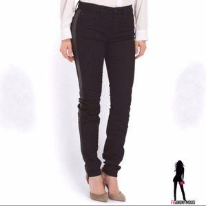 Joe's Jeans Black Tuxedo Stripe Jeans 27